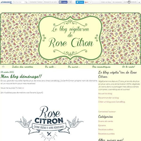 Le blog végéta*ien de Rose Citron