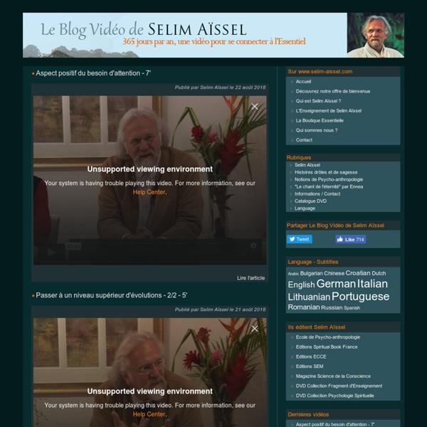 Le Blog vidéo de Selim Aïssel