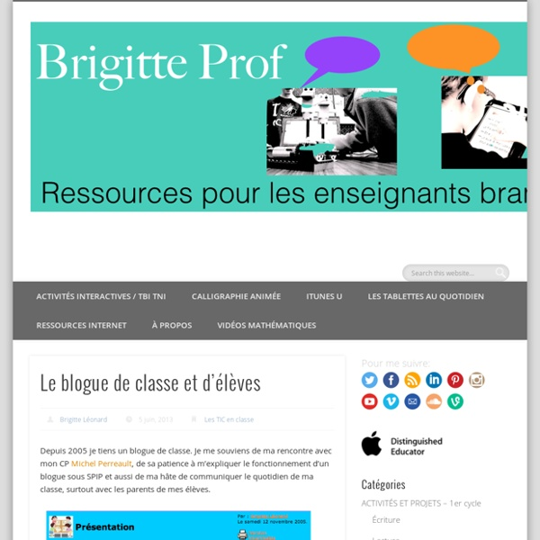 #2. Le blogue de classe et d'élèves