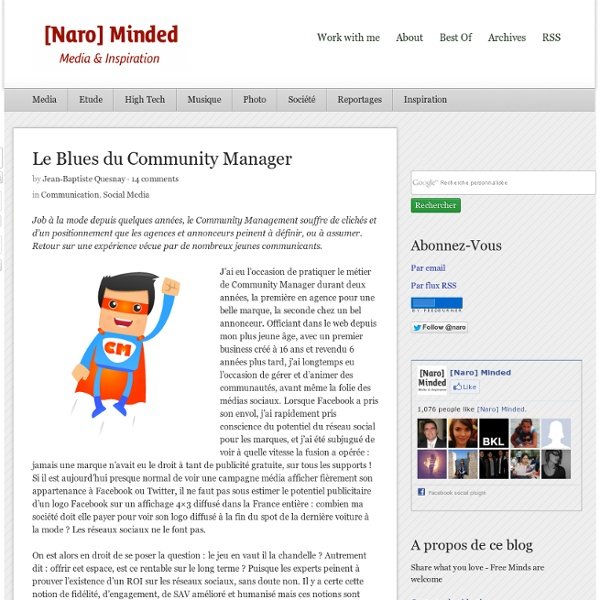 Le Blues du Community Manager
