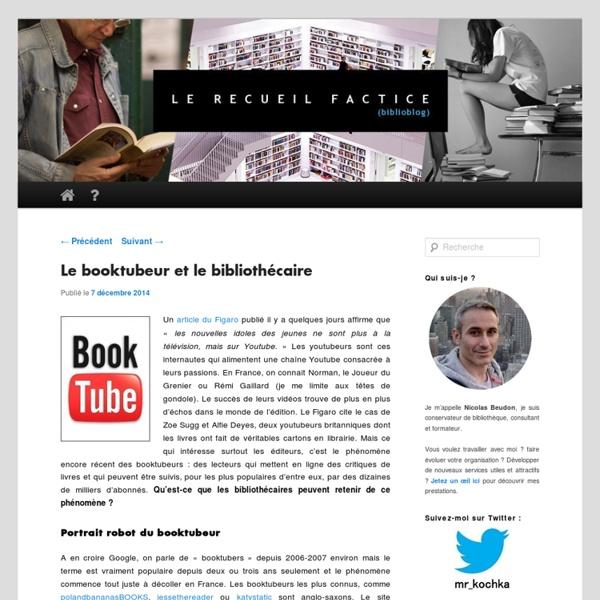 Blog lereceuilfactice: Le booktubeur et le bibliothécaire