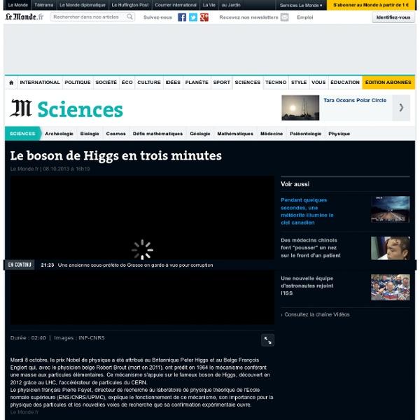 Le boson de Higgs en trois minutes