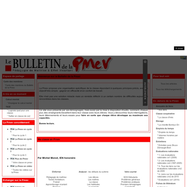 Le Bulletin de la Pmev