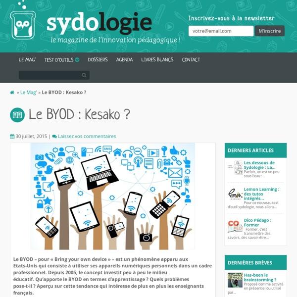 Le BYOD : Kesako ? - Sydologie