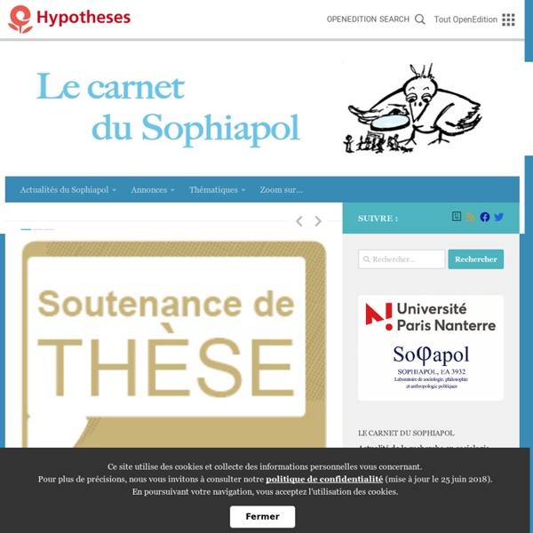 Le carnet du Sophiapol