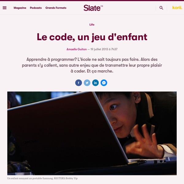 Le code, un jeu d'enfant