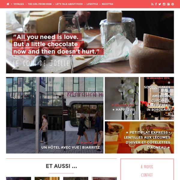Un blog lifestyle, cuisine et voyages