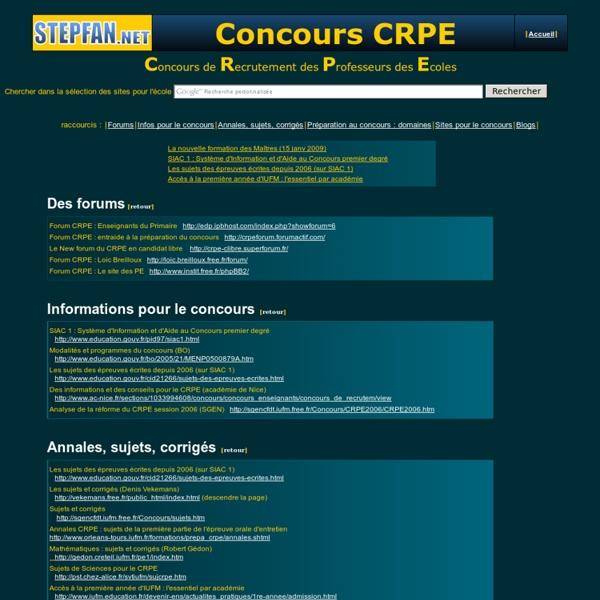 Le concours CRPE