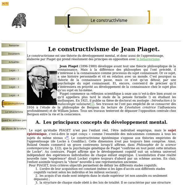 Le constructivisme