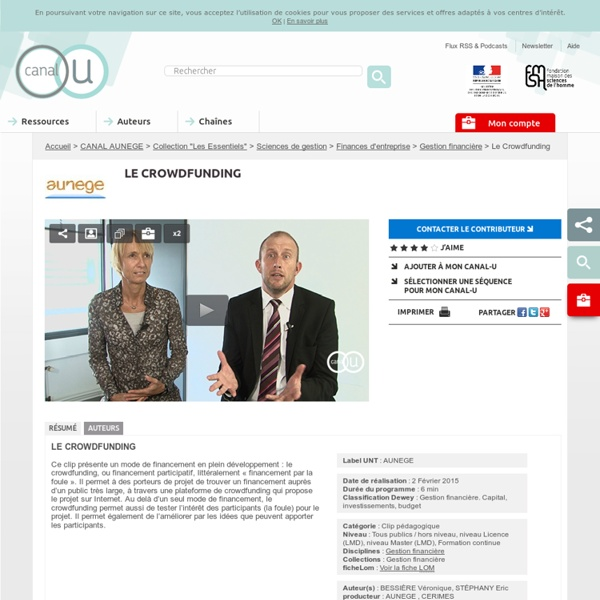 Le Crowdfunding - CANAL AUNEGE