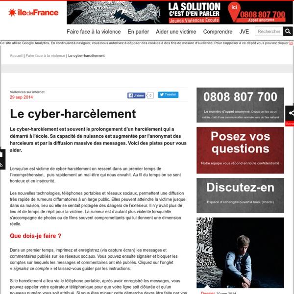 Le cyber-harcèlement