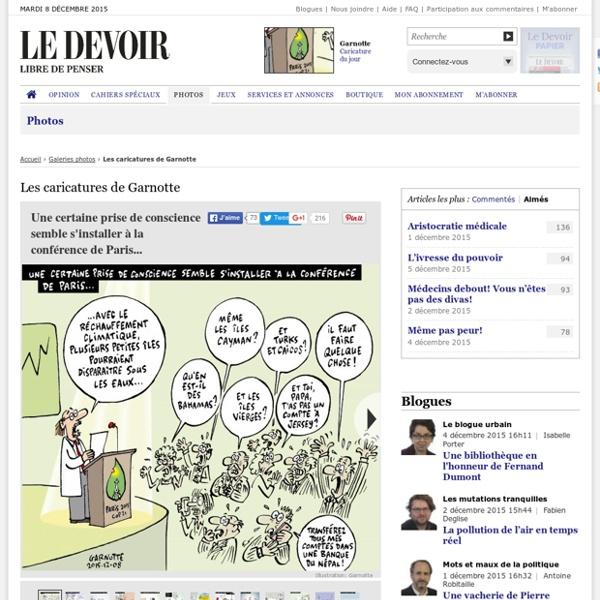 Caricatures de Garnotte- Le Devoir