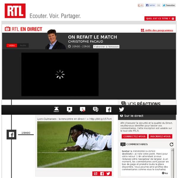 Le direct de RTL