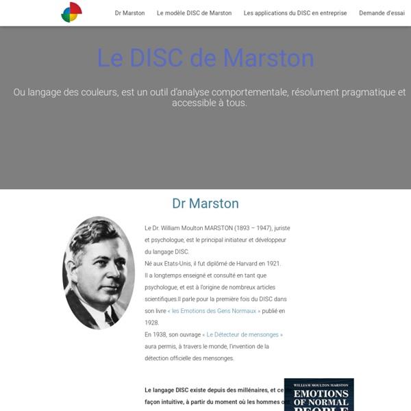 Le DISC de William M. MARSTON