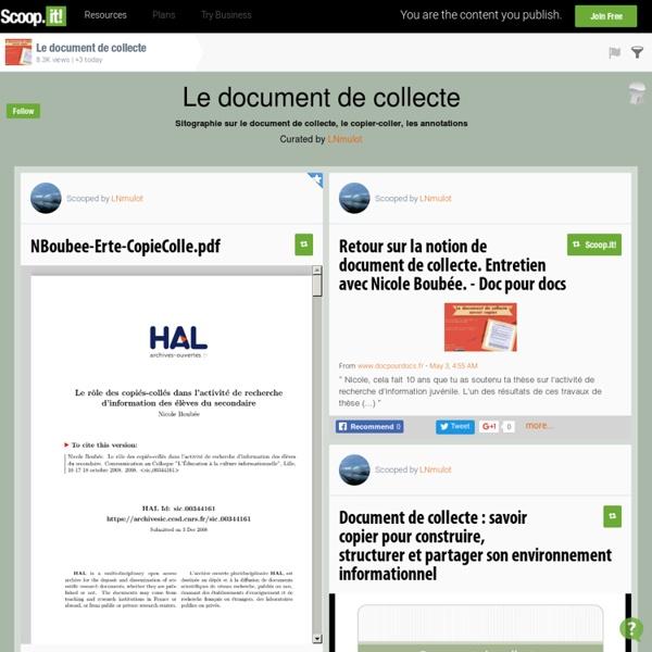 Le document de collecte