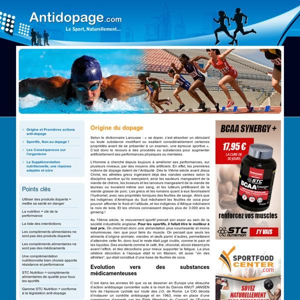 Le dopage dans le sport - Antidopage.com
