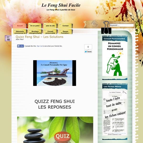 Le feng shui port e de tous pearltrees - Le feng shui facile ...