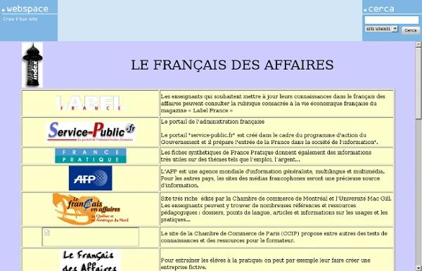 LE FRANCAIS DES AFFAIRES
