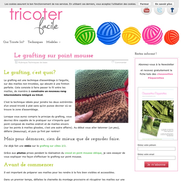 Le grafting sur point mousse