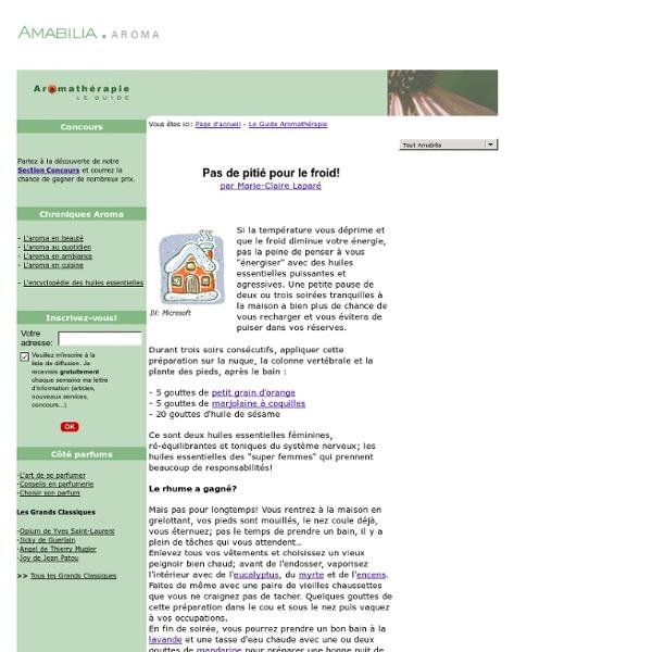 Le Guide Aromathérapie