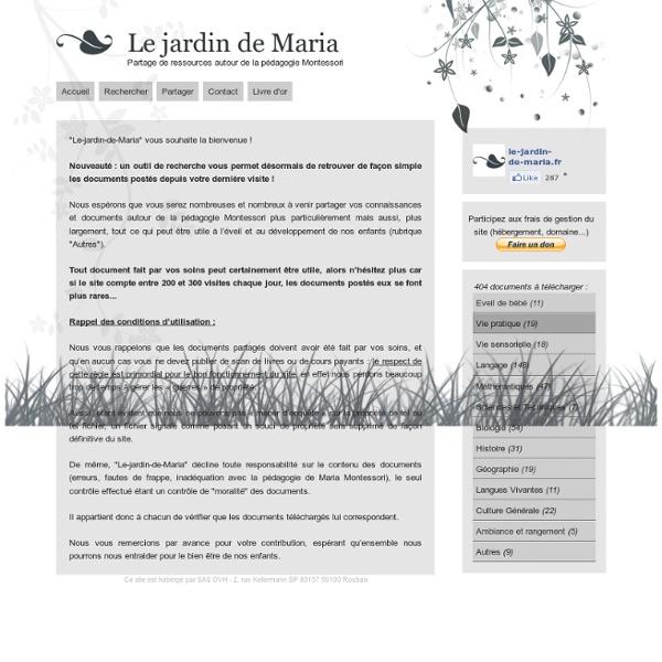 Le jardin de Maria - Accueil