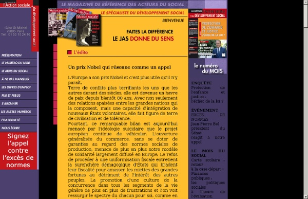 Le Journal de l'Action Sociale