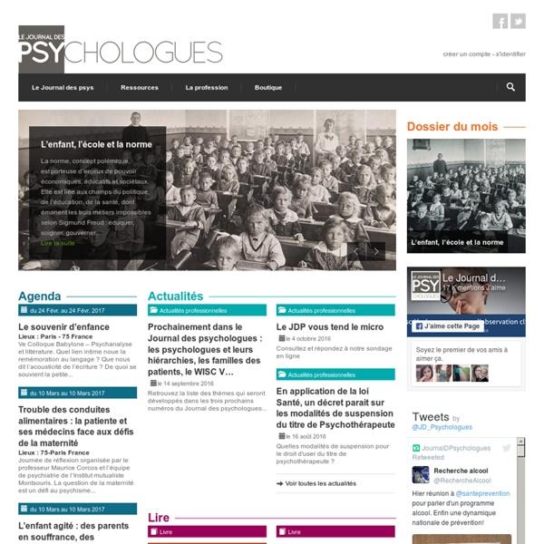 Le Journal des Psychologues