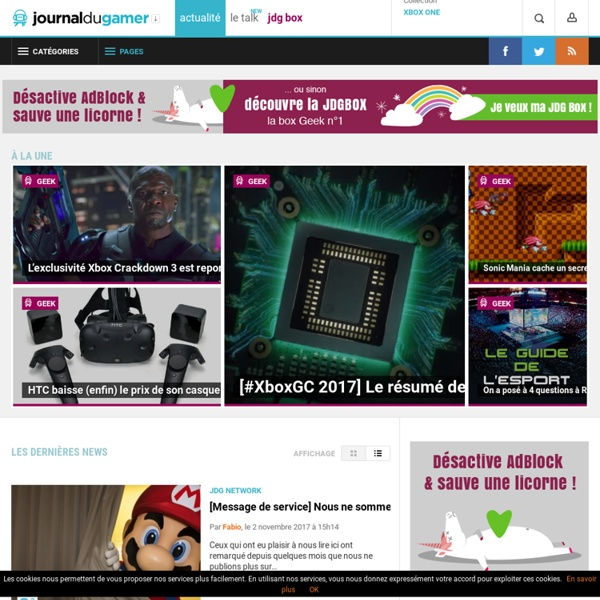 Le Journal du Gamer - Feed the Gamer Inside
