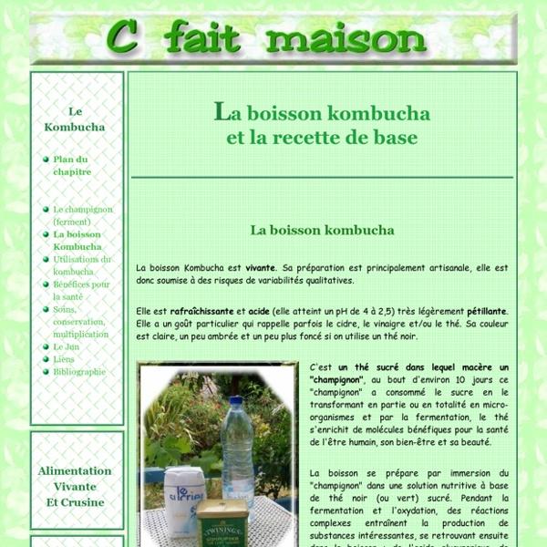 Le kombucha - Préparer la boisson Kombucha