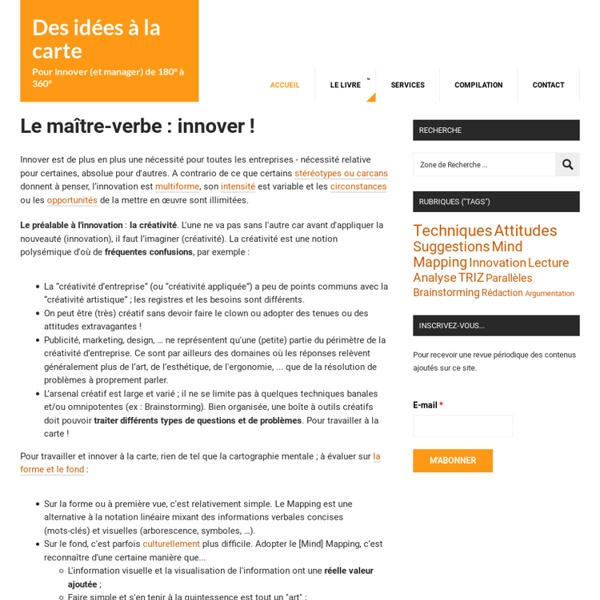 "Management et innovation ""à la carte"""