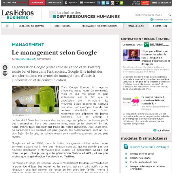 Le management selon Google