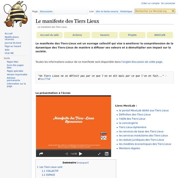 Le manifeste des Tiers Lieux — Movilab.org