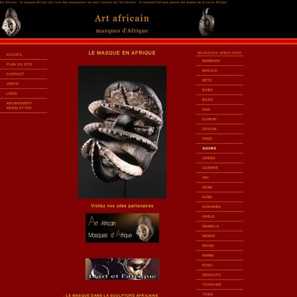 Le masque africain dans l'art africain