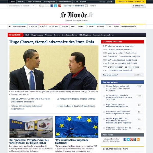 Le Monde.fr - Actualité à la Une