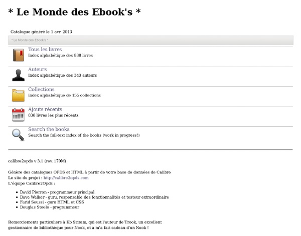 * Le Monde des Ebook's *