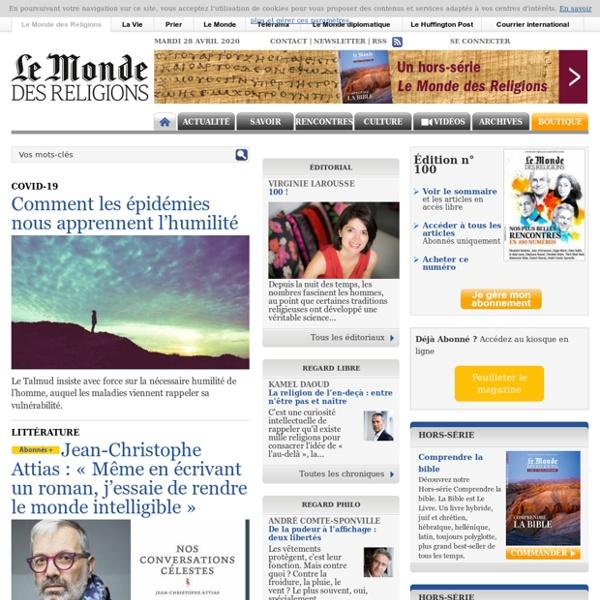 Le Monde des Religions - Le site du Monde des RELIGIONS