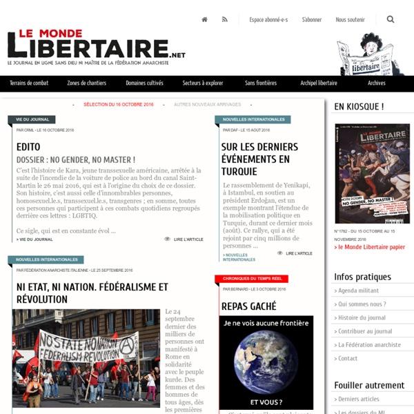 Le site du Monde libertaire