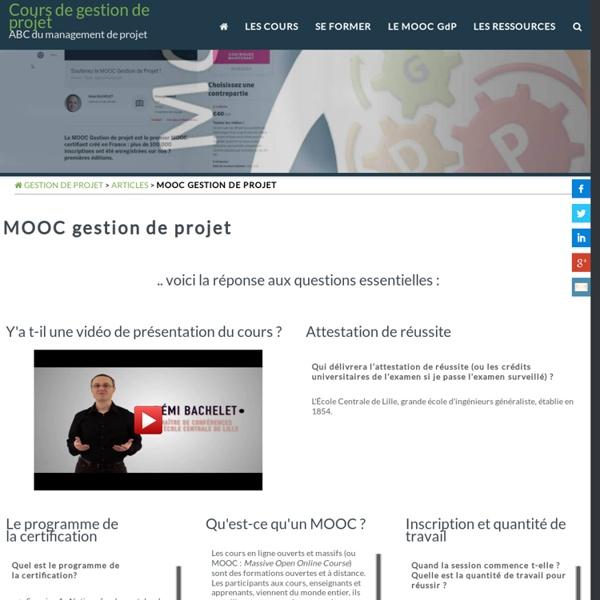 MOOC en Gestion de projet