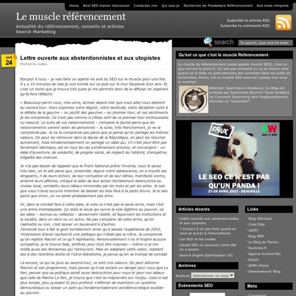 Le muscle référencement - Actualité du référencement, conseils et articles Search Marketing