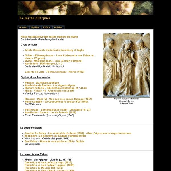 Le mythe d'Orphée