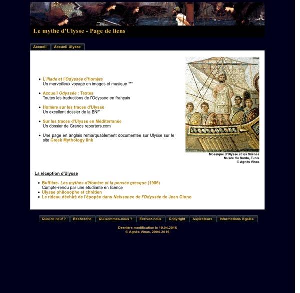 Le mythe d'Ulysse - Page de liens