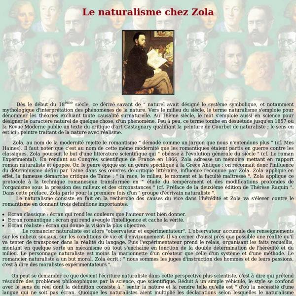 Le naturalisme chez Zola