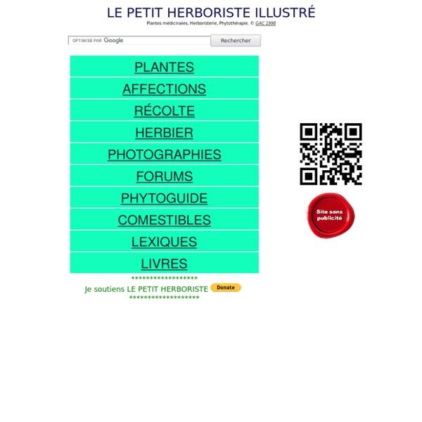 LE PETIT HERBORISTE ILLUSTRE - PLANTES MEDICINALES PHYTOTHERAPIE