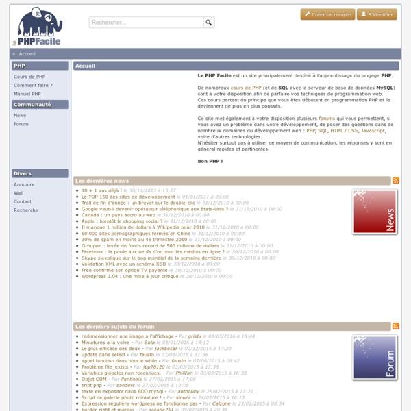 Le PHP Facile - Apprenez le PHP !