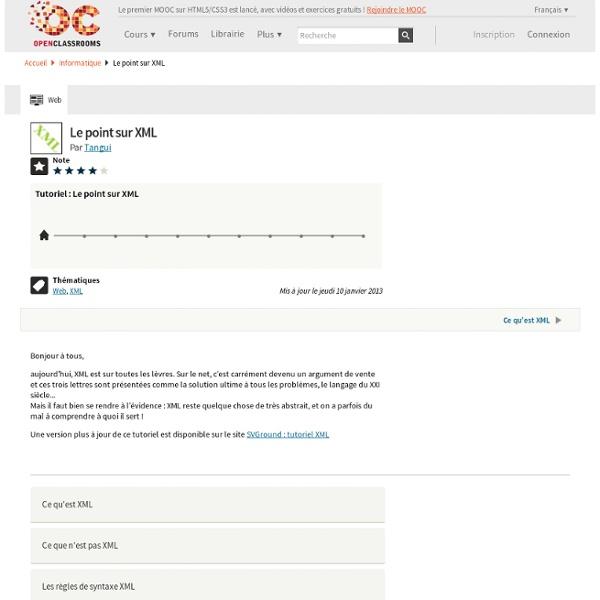 Le point sur XML