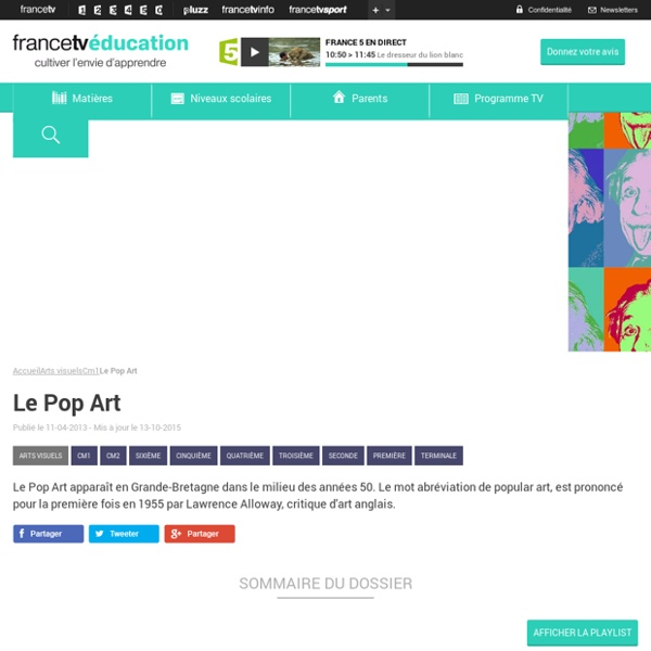 Le Pop Art France TV Education