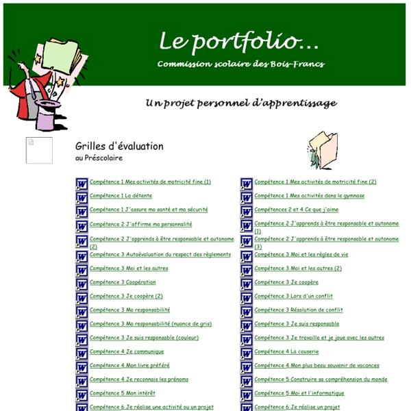 Le portfolio - Préscolaire