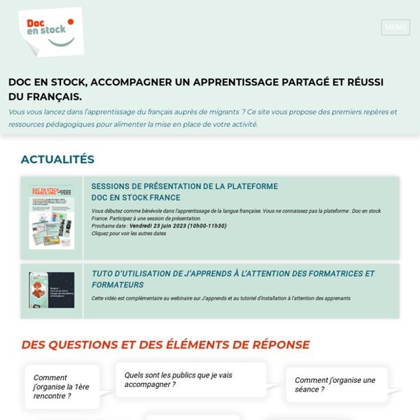 Doc en Stock – Accompagner un apprentissage partagé et réussi du français