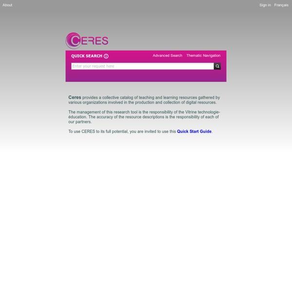 Le projet Eurêka: page d'accueil