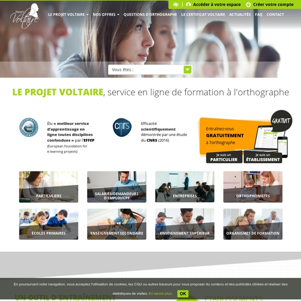 Test et exercices d'orthographe – Projet Voltaire